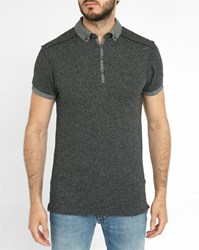 Scotch And Soda Charcoal Home Long Polo Shirt Grey