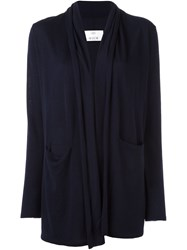Allude Open Front Cardigan Blue