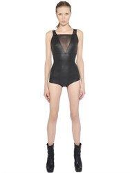 Rick Owens Lycra And Tulle One Piece Swimsuit