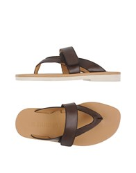 Jil Sander Footwear Thong Sandals Men Dark Brown