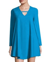 Lucca Couture Naomi A Line Long Sleeve Dress Teal