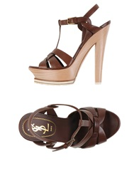 Yves Saint Laurent Sandals Cocoa