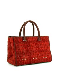 Pandora Demi Woven Tote Bag Cranberry Vbh Red