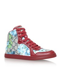 Gucci Coda Gg Blooms High Top Sneakers Female Red
