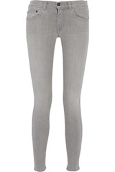 Proenza Schouler Mid Rise Skinny Jeans Gray
