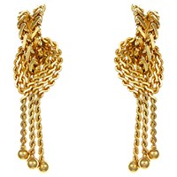Eclectica Vintage 1960S Grosse Gold Plated Chain Drop Clip On Earrings Gold