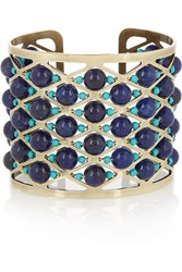 Etro Gold Plated Lapis Lazuli And Turquoise Cuff