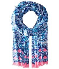 Lilly Pulitzer Resort Scarf Resort White Midnight Blues Scarves