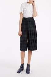 R 13 R13 Women S Layered Plaid Cullotte Boutique1 Green