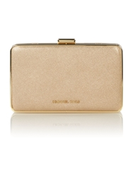 Michael Kors Elsie Gold Box Clutch Bag