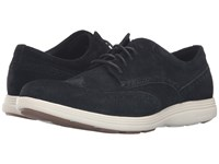Cole Haan Grand Tour Wing Oxford Black Suede Ivory Men's Lace Up Casual Shoes