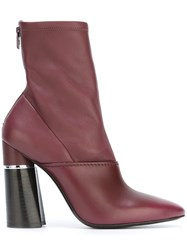 3.1 Phillip Lim 'Kyoto' Ankle Boots Red
