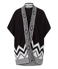 Olsen Ethnic Detail Cardigan Black