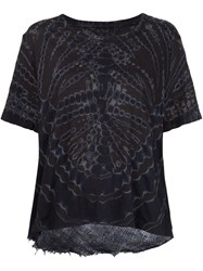 Raquel Allegra Tie Dye Sheer Back Top Black