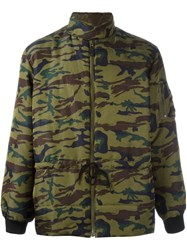 Jean Paul Gaultier Vintage Camouflage Padded Jacket Green