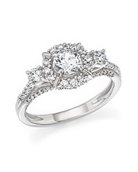 Bloomingdale's Certified Diamond 3 Stone Engagement Ring In 14K White Gold 1.0 Ct. T.W.