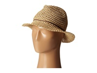 San Diego Hat Company Pbf6188 Two Tone Woven Paper Fedora W Rope And Coconut Trim Tobacco Fedora Hats Brown