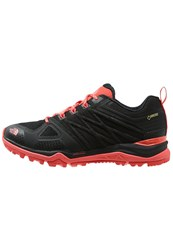 The North Face Ultra Fastpack Ii Gtx Hiking Shoes Black Neon Peach