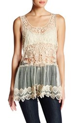 Poof Embroidered Mesh Tunic
