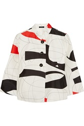 Raoul Printed Cotton And Silk Blend Jacket White