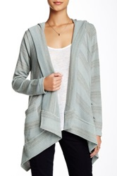 Kut From The Kloth Ted Stripe Hooded Poncho Gray
