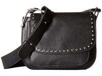 Sam Edelman Renee Iconic Saddle Black Cross Body Handbags