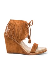 Paul Andrew Suede Shantou Wedges In Brown