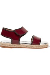 Marni Patent Leather Sandals Red