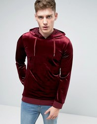 Liquor And Poker Velour Hoody Red