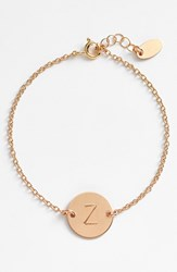 Women's Nashelle 14K Gold Fill Initial Disc Bracelet 14K Gold Fill Z