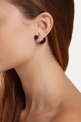 Sterling Forever Cocktails At Midnight Double Sided Stud Earrings Black