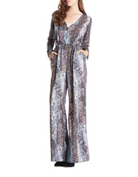 Bcbgeneration Patterned Wide Leg Jumpsuit Black Multi