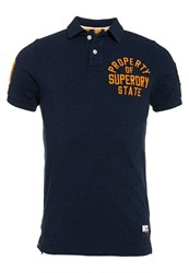 Superdry Super State Pique Polo Shirt Navy