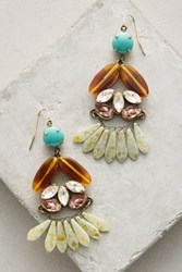 Anthropologie Amalthea Chandelier Earrings Turquoise