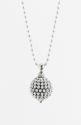 Lagos Sterling Silver Ball Long Pendant Necklace Caviar Ball