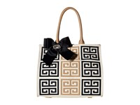 My Flat In London Delphine Square Tote Nude Navy Tote Handbags Multi