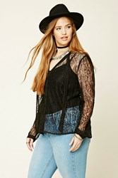 Forever 21 Plus Size Sheer Lace Shirt