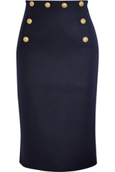 Red Valentino Redvalentino Wool Blend Midi Skirt Midnight Blue