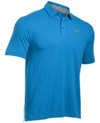 Under Armour Men's Charged Cotton Scramble Golf Polo Shirt Electric Blue