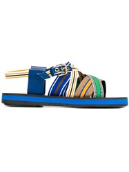 Studio Pollini Strappy Flat Sandals Multicolour