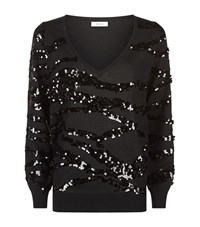 Reiss Ruby Sequin Jumper Female Black