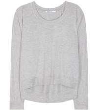 Alexander Wang Soft French Terry Jersey Sweater Grey