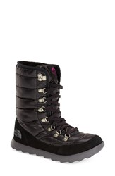 The North Face Women's 'Thermoball' Water Resistant Boot Shiny Black Pink