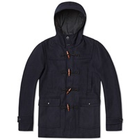Nanamica Windstopper Duffle Coat Navy Melton Wool