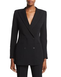 Bottega Veneta Double Breasted Structured Shoulder Jacket Black