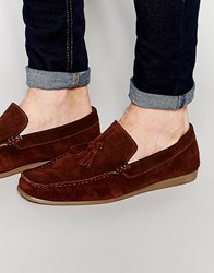 Frank Wright Loafer In Brown Suede Brown