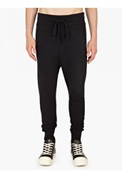 Thom Krom Black Cotton Jersey Sweatpants
