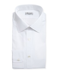 Charvet Solid Poplin Dress Shirt White
