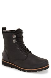 Ugg 'Hannen' Plain Toe Boot With Genuine Shearling Men 9