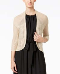 Thalia Sodi Illusion Bolero Cardigan Only At Macy's Sweater Gold